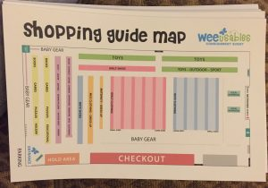 This image shows the floor layout map for the Lancaster WeeUsables Event.