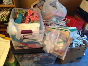 kids consignment sale pile