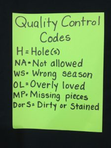 Quality Control codes